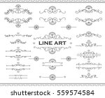 line art frames and scroll... | Shutterstock .eps vector #559574584