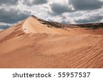 sandy mountain and sky | Shutterstock . vector #55957537