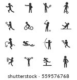 sport vector icons for user... | Shutterstock .eps vector #559576768