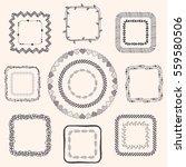 decorative black hand sketched... | Shutterstock . vector #559580506