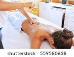 young woman is receiving... | Shutterstock . vector #559580638
