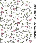 set of romantic fine seamless... | Shutterstock .eps vector #559581130