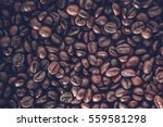 Close Up Coffee Beans Background