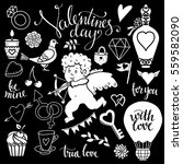 valentines day hand drawn ...   Shutterstock .eps vector #559582090