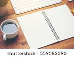 coffee cup and keyboard... | Shutterstock . vector #559583290