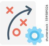 tactic vector icon | Shutterstock .eps vector #559589326