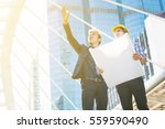 young male architects... | Shutterstock . vector #559590490