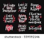 vector set of handwritten... | Shutterstock .eps vector #559592146