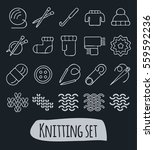 knitting and needlework icon... | Shutterstock .eps vector #559592236