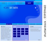 website design template | Shutterstock .eps vector #55959460