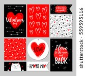 set of valentines day gift... | Shutterstock .eps vector #559595116