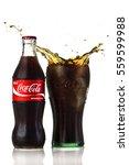 coke bottle  isolated on white... | Shutterstock . vector #559599988