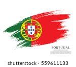 flag of portugal  brush stroke... | Shutterstock .eps vector #559611133