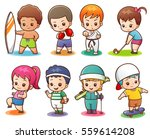 vector illustration of cartoon... | Shutterstock .eps vector #559614208