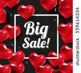 happy valentines day design.... | Shutterstock .eps vector #559614334