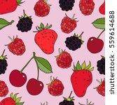 juicy berries seamless pattern. ... | Shutterstock .eps vector #559614688