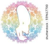 women silhouette. uttanasana ...   Shutterstock .eps vector #559617700