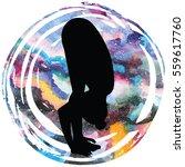 women silhouette on galaxy...   Shutterstock .eps vector #559617760