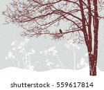 tree in the snowy day | Shutterstock .eps vector #559617814