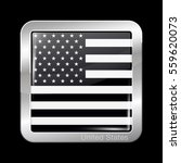 black and white american flag.... | Shutterstock .eps vector #559620073