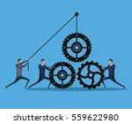 men business cooperation gears... | Shutterstock .eps vector #559622980