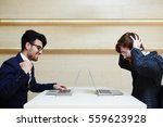 win lose concept in business... | Shutterstock . vector #559623928