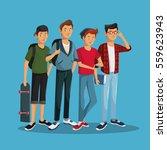 teens boy fashionable skate...   Shutterstock .eps vector #559623943