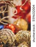 luxury christmas ball...   Shutterstock . vector #559632004