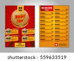 fast food flyer design template ... | Shutterstock .eps vector #559633519