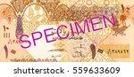 10 qatari riyal bank note bank... | Shutterstock . vector #559633609