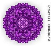 violet floral ornament....   Shutterstock . vector #559634104