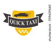 taxi badge vector illustration. | Shutterstock .eps vector #559639660