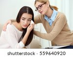 young depressed woman at... | Shutterstock . vector #559640920