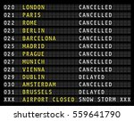 flight information on airport... | Shutterstock .eps vector #559641790