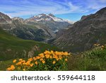 Small photo of Surounding Lac du Chevril, Mountain View, Val-d'Isère, Savoy Alps, France
