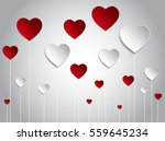 vector background with red... | Shutterstock .eps vector #559645234
