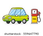 car and gas fuel pump isolated. ... | Shutterstock .eps vector #559647790