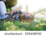 woman relaxing picnic in the
