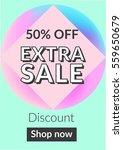 social media sale banner and... | Shutterstock .eps vector #559650679