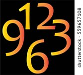 clock number icon vector | Shutterstock .eps vector #559657108