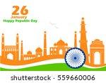 illustration of famous monument ... | Shutterstock .eps vector #559660006