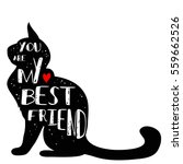 Typographic Poster With Cat...