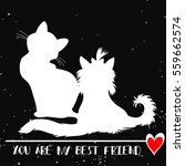 typographic poster with cat and ... | Shutterstock .eps vector #559662574
