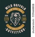 wild buffalo new york usa... | Shutterstock .eps vector #559668808
