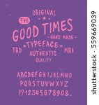 good times typeface. hand drawn ... | Shutterstock .eps vector #559669039