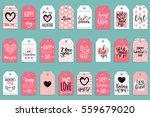 vector valentine's day cards... | Shutterstock .eps vector #559679020