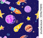 space patches | Shutterstock .eps vector #559679890