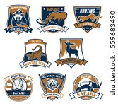 hunting emblems and icons with... | Shutterstock .eps vector #559683490
