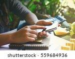 businesswoman working in office. | Shutterstock . vector #559684936