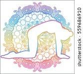 women silhouette.cat yoga pose. ...   Shutterstock .eps vector #559686910